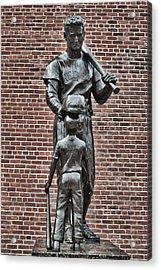 Ted Williams Statue - Boston Acrylic Print by Joann Vitali