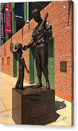 Ted Williams Acrylic Print by Paul Mangold