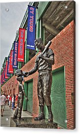 Ted Williams Statue At Fenway Park Acrylic Print by Joann Vitali