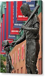 Ted Williams Tribute Acrylic Print by Juergen Roth