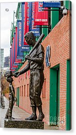 Acrylic Print featuring the photograph Teddy Ballgame by Mike Ste Marie