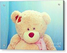 Acrylic Print featuring the photograph Teddy Bear by Mohamed Elkhamisy