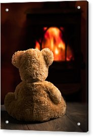 Teddy By The Fire Acrylic Print