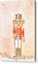 Teddy Nutcracker Acrylic Print by David Stasiak