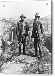 Teddy Roosevelt And John Muir Acrylic Print