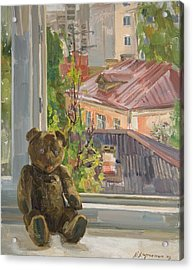 Teddy With Blue Eyes Acrylic Print by Victoria Kharchenko