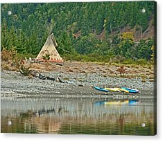 Tee Pee At River Bend  Acrylic Print by Gracia  Molloy