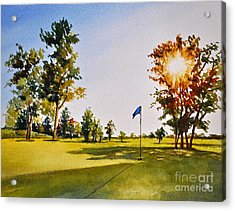 Tee Time Acrylic Print by Andrea Timm