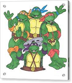 Teenage Mutant Ninja Turtles  Acrylic Print by Yael Rosen
