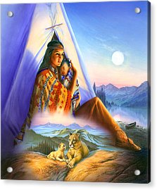 Teepee Of Dreams Acrylic Print by Andrew Farley