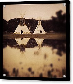 Teepees In Town  Acrylic Print