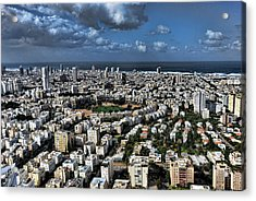 Acrylic Print featuring the photograph Tel Aviv Center by Ron Shoshani