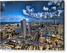 Acrylic Print featuring the photograph Tel Aviv Center Skyline by Ron Shoshani