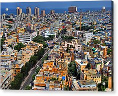 Tel Aviv Eagle Eye View Acrylic Print by Ron Shoshani