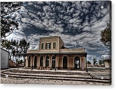 Acrylic Print featuring the photograph Tel Aviv First Railway Station by Ron Shoshani