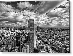 Acrylic Print featuring the photograph Tel Aviv High And Above by Ron Shoshani