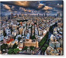 Acrylic Print featuring the photograph Tel Aviv Lookout by Ron Shoshani