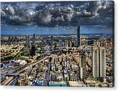 Acrylic Print featuring the photograph Tel Aviv Love by Ron Shoshani