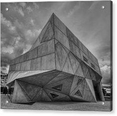 Acrylic Print featuring the photograph Tel Aviv Museum  by Ron Shoshani
