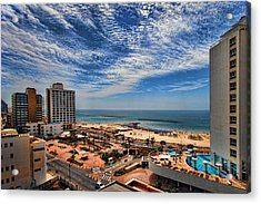 Acrylic Print featuring the photograph Tel Aviv Summer Time by Ron Shoshani