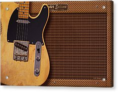 Telecaster Deluxe Acrylic Print by WB Johnston