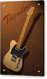 Telecaster Acrylic Print by WB Johnston