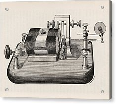 Telegraph Receiver Acrylic Print by King's College London
