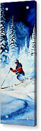 Telemark Trails Acrylic Print by Hanne Lore Koehler