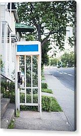 Telephone Booth Acrylic Print by Linda Raymond