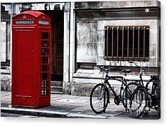 Telephone In London Acrylic Print by John Rizzuto