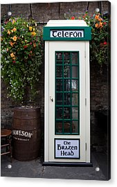 Telephone Kiosk, The Brazen Head Pub Acrylic Print by Panoramic Images