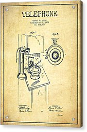 Telephone Patent Drawing From 1898 - Vintage Acrylic Print