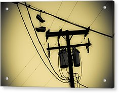 Telephone Pole And Sneakers 1 Acrylic Print