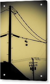 Telephone Pole And Sneakers 3 Acrylic Print