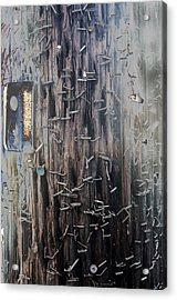 Telephone Pole With Scars From The Past Acrylic Print