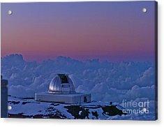 Telescope Acrylic Print by Karl Voss