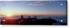 Telescopes On Mauna Kea At Sunset Acrylic Print