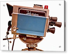 Television Studio Camera Hdr Acrylic Print by Edward Fielding