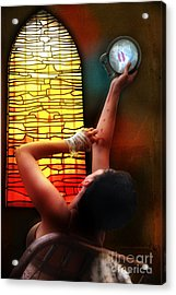 Tell Me Little Mirror Is That My Soul Acrylic Print by Rosa Cobos