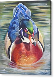 Acrylic Print featuring the painting Telling by Phyllis Beiser
