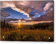Telluride Mountain Sunset Acrylic Print