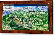 Telluride Ski Map Detail  Acrylic Print by David Lee Thompson