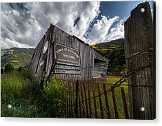 Telluride Welcome Sign Acrylic Print