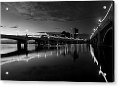 Tempe Town Lake In Black And White Acrylic Print