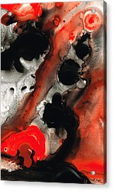 Tempest - Red And Black Painting Acrylic Print by Sharon Cummings