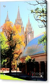 Temple And Tabernacle Acrylic Print by Kathleen Struckle