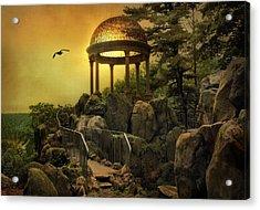 Temple At Dusk Acrylic Print