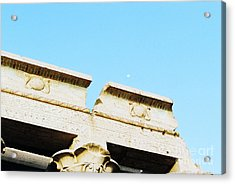 Acrylic Print featuring the photograph Temple At Luxor by Cassandra Buckley