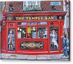 Temple Bar Dublin Ireland Acrylic Print by Melinda Saminski