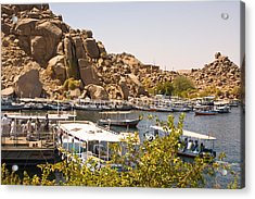 Temple Boat Dock Acrylic Print by James Gay